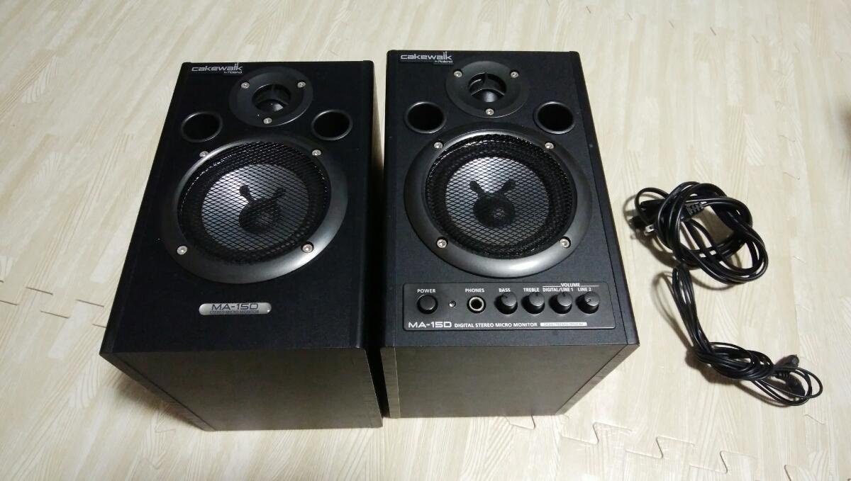 Roland MA-15D BK Stereo Micro Monitor Cakewalk ローランド エディロール ブラック スピーカー モニター