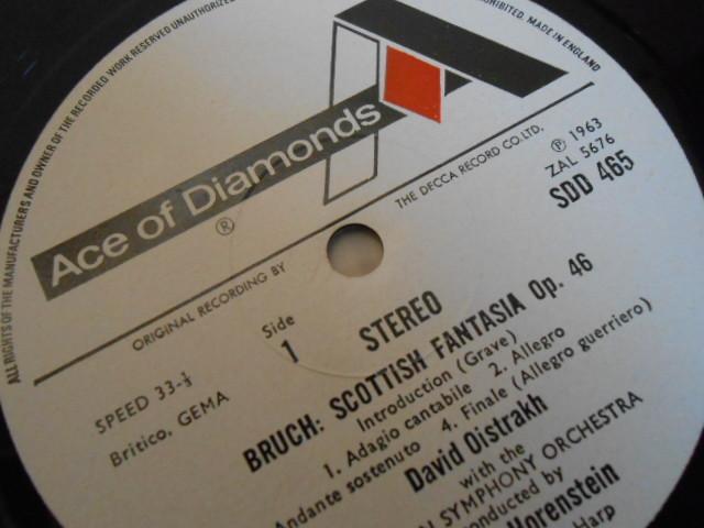 英DECCA SDD-465 オイストラフ ブルッフ スコットランド幻想曲 ヒンデミット ヴァイオリン協奏曲 OISTRAKH_画像2