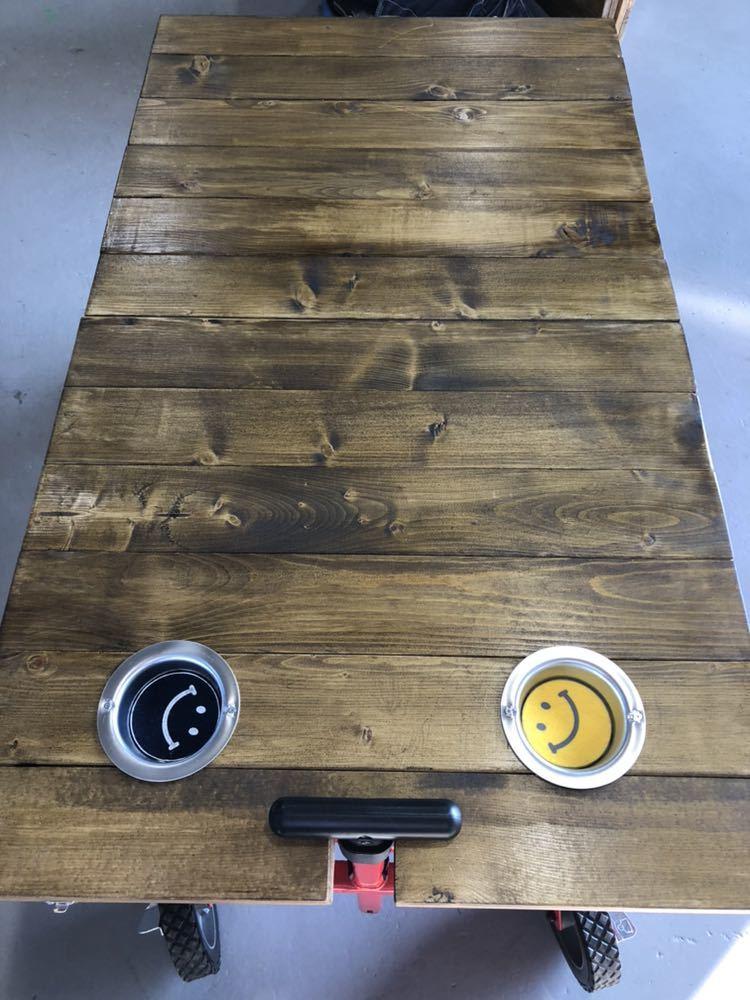 コールマン ワゴン 折りたたみテーブル ホルダー付き アウトドア 送料無料_画像3