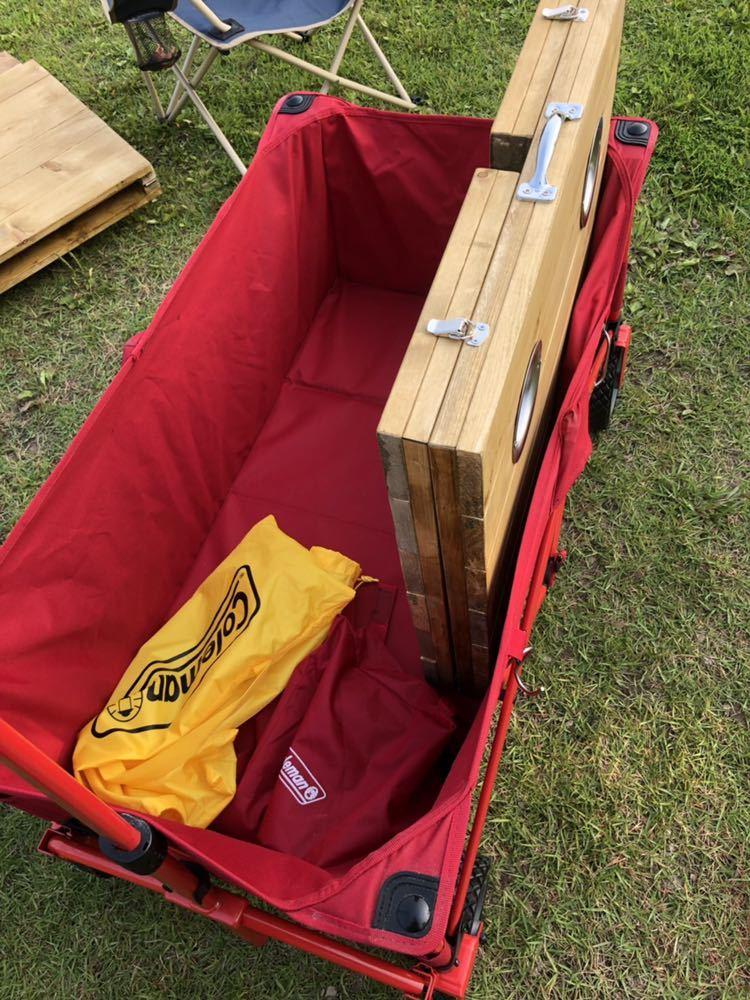 コールマン ワゴン 折りたたみテーブル ホルダー付き アウトドア 送料無料_画像7