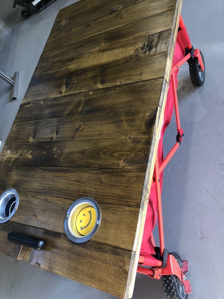 コールマン ワゴン 折りたたみテーブル ホルダー付き アウトドア 送料無料