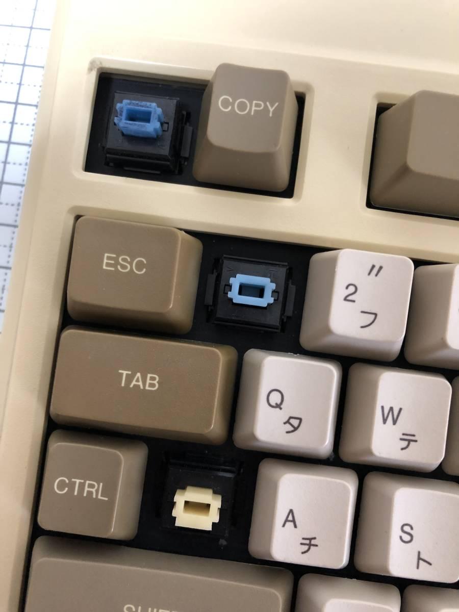 NEC PC-8801 メカニカル キーボード ALPS 青軸 掃除済_画像2