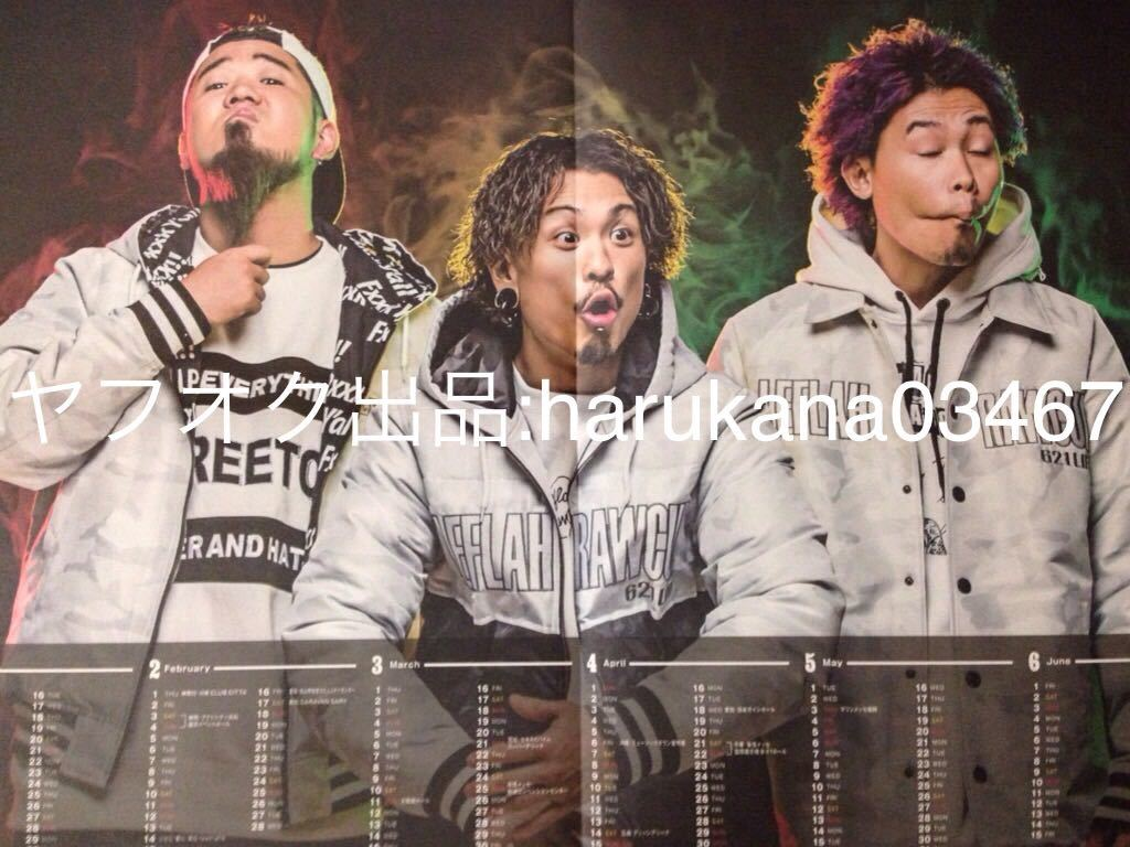 WANIMA  Everybody!!  ツタロック 見開き カレンダー ポスター  フライヤー 冊子 2部  インタビュー 非売品 TSUTAYA 2018年