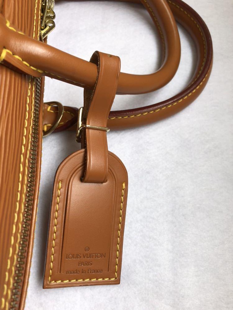極美品 ほぼ未使用 使用1回のみ ルイ ヴィトン Louis Vuitton エピ ブラウン 茶 ビジネスバッグ _画像4