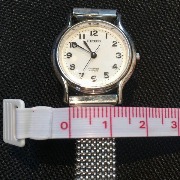 シチズン CITIZEN EXCEED エクシード レディース 腕時計 クォーツ 3針 婦人 時計 シルバー色 中古 当時物 /S387_画像7