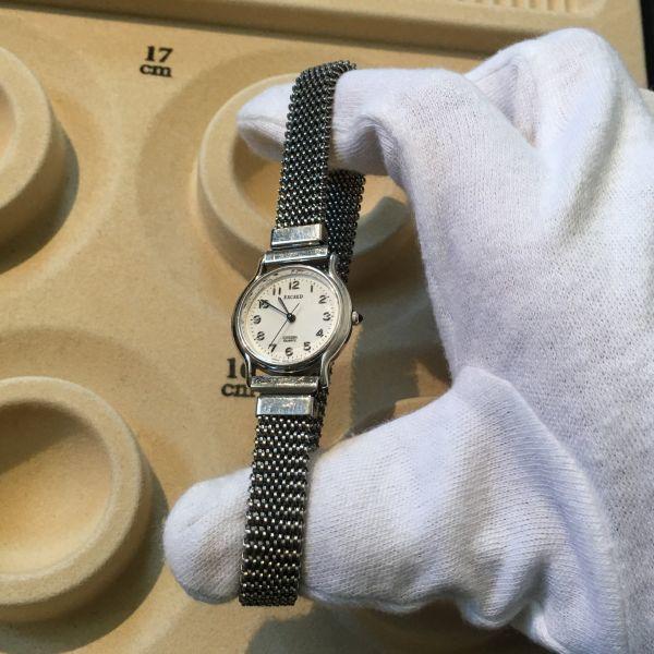 シチズン CITIZEN EXCEED エクシード レディース 腕時計 クォーツ 3針 婦人 時計 シルバー色 中古 当時物 /S387_画像10