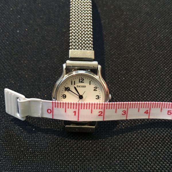 シチズン CITIZEN EXCEED エクシード レディース 腕時計 クォーツ 3針 婦人 時計 シルバー色 中古 当時物 /S387_画像5