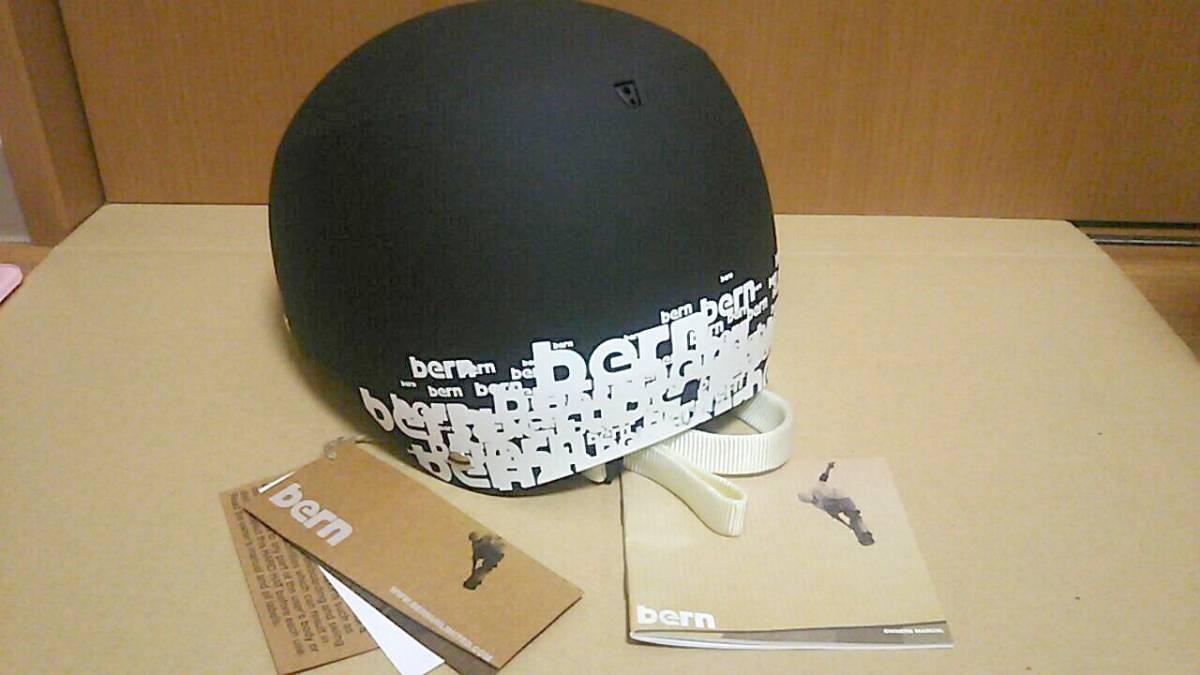 未使用 bern baker XL 59-60.5センチ ブラック ヘルメット スノボー スケボー_画像2