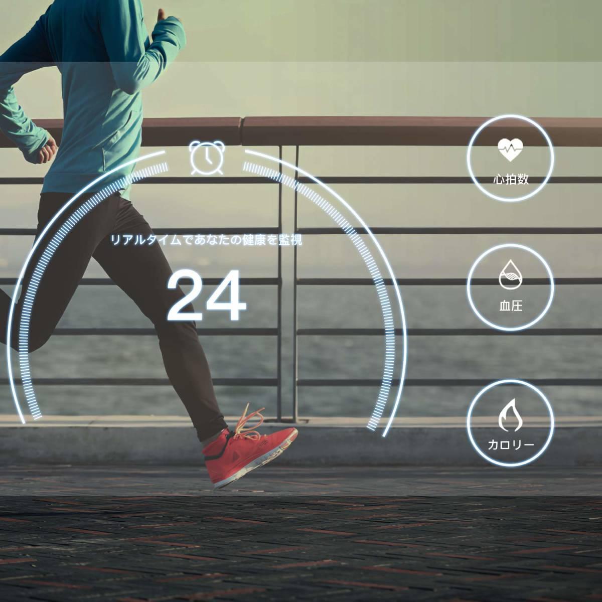 ★☆AGPTEK 2019最新 スマートウォッチ IP67防水 スマートブレスレット Bluetooth機能搭載 歩数計 タッチ操作【S0625】☆★_画像8
