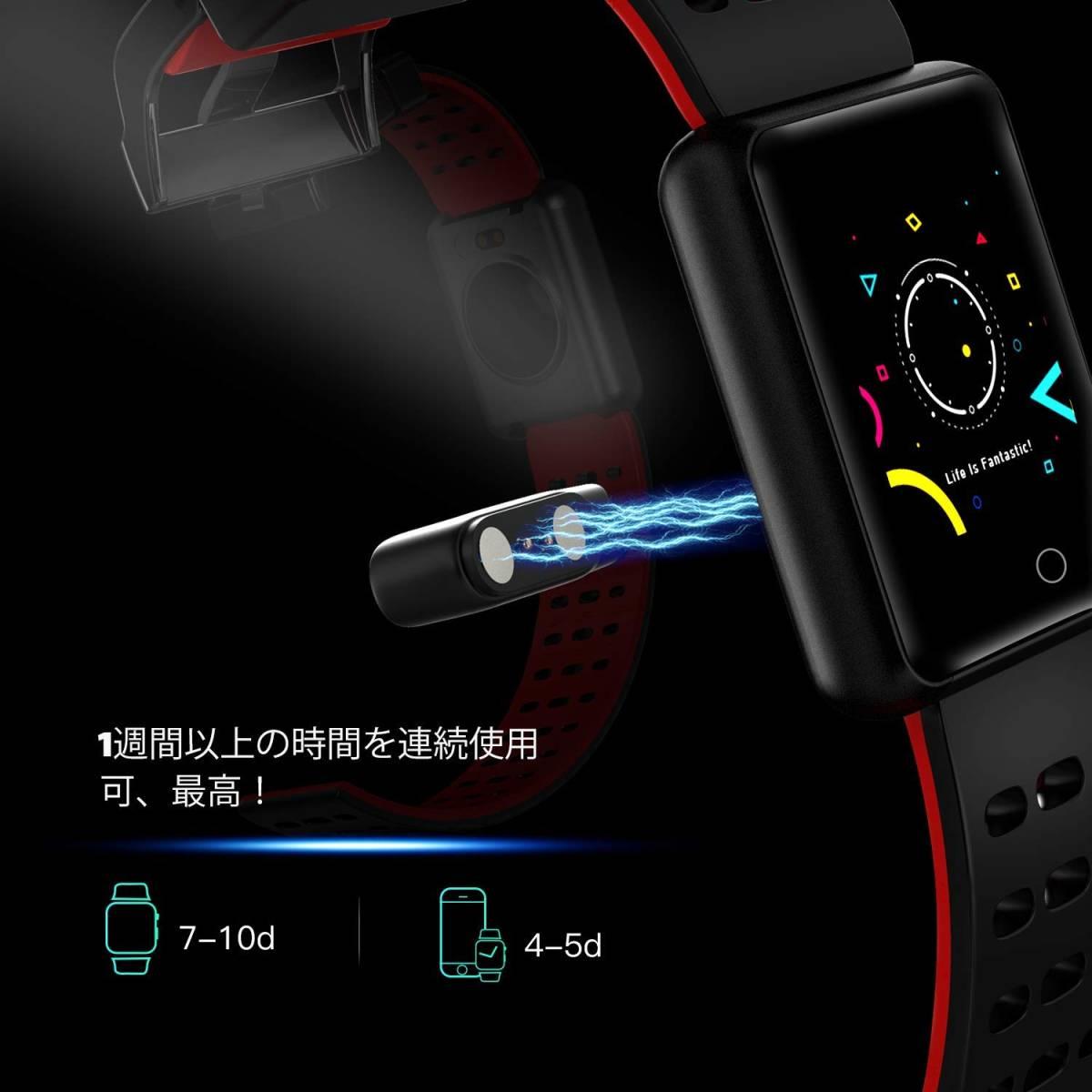 ★☆AGPTEK 2019最新 スマートウォッチ IP67防水 スマートブレスレット Bluetooth機能搭載 歩数計 タッチ操作【S0625】☆★_画像7