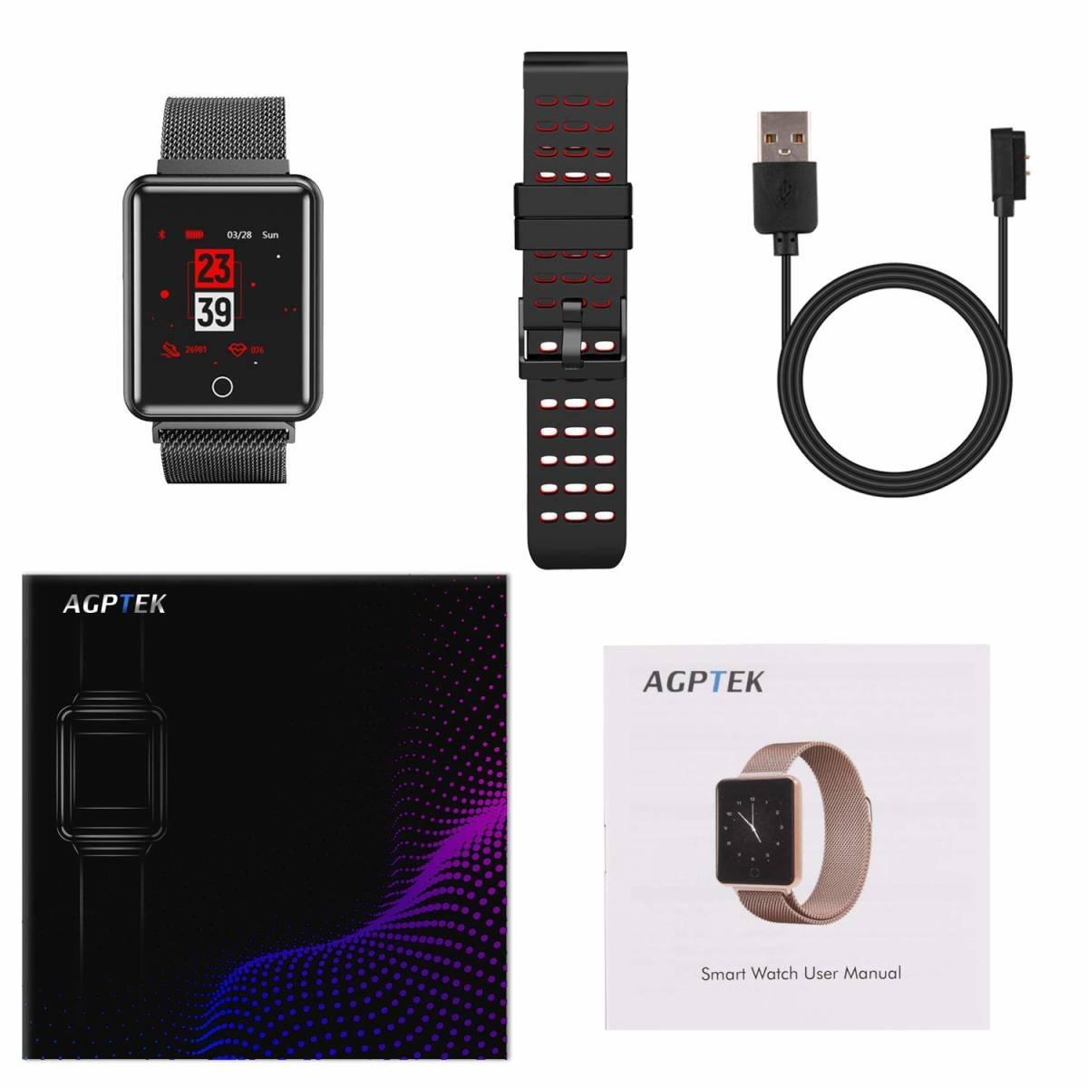 ★☆AGPTEK 2019最新 スマートウォッチ IP67防水 スマートブレスレット Bluetooth機能搭載 歩数計 タッチ操作【S0625】☆★_画像10