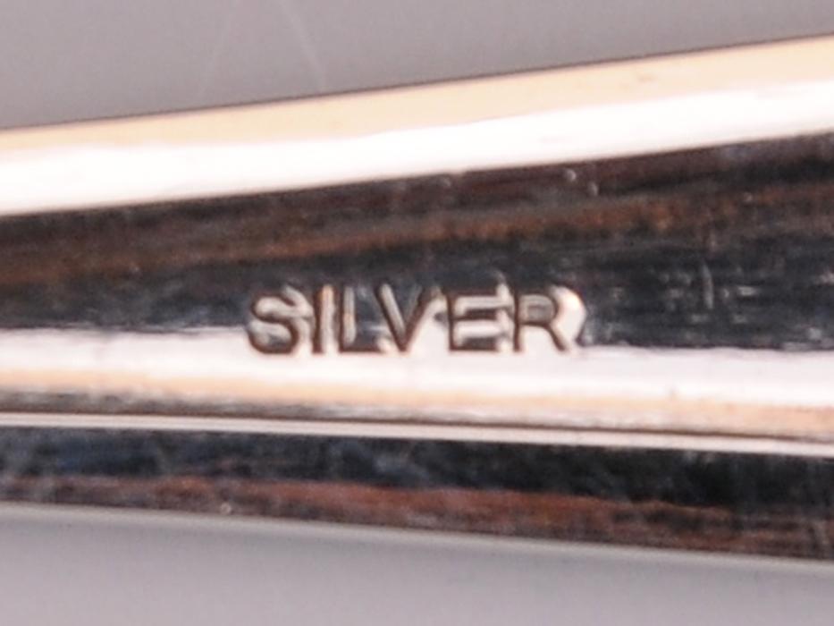 銀製 スプーン6本セット 総重量:約90g SILVER 洋食器 カトラリー 金属工芸 b5468o_画像8