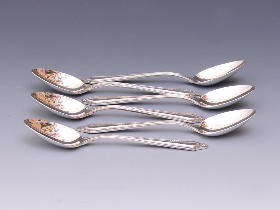銀製 スプーン6本セット 総重量:約90g SILVER 洋食器 カトラリー 金属工芸 b5468o_画像3