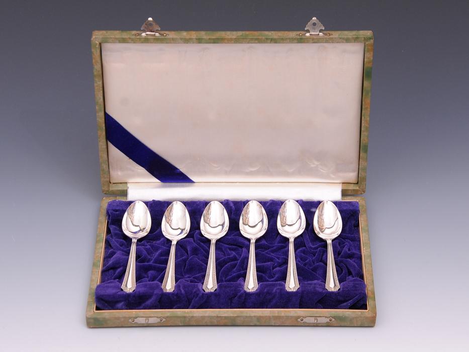 銀製 スプーン6本セット 総重量:約90g SILVER 洋食器 カトラリー 金属工芸 b5468o_画像2