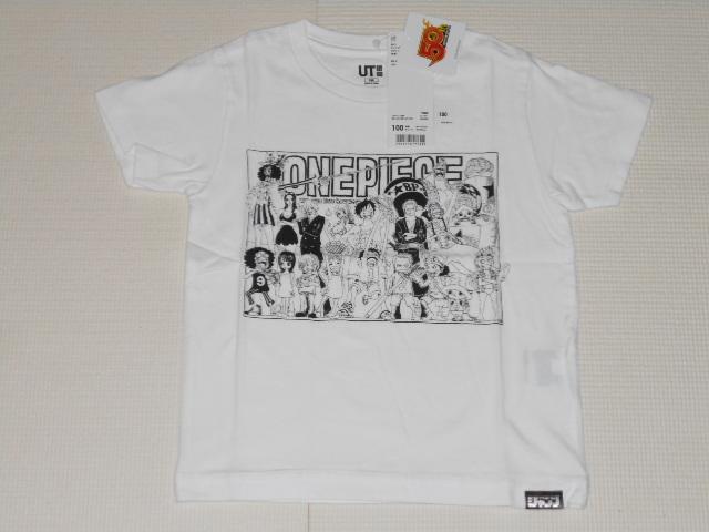 UNIQLO ONE PIECE 半袖Tシャツ ホワイト 100サイズ ジャンプ50thグラフィックT ワンピース ユニクロ★新品未使用_画像1