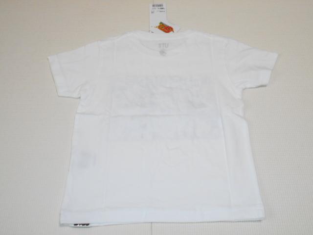 UNIQLO ONE PIECE 半袖Tシャツ ホワイト 100サイズ ジャンプ50thグラフィックT ワンピース ユニクロ★新品未使用_画像6