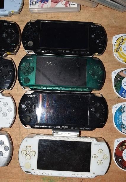 80/5C25★ジャンク PSP 本体 PSP-1000 2000 3000 ソフト まとめて大量セット_画像2