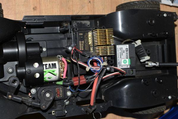 120/4B49★ジャンク タミヤ 1/10 電動RC ラジコン ホンダ CR-V サンワ プロポ TM-1170 セット_画像5