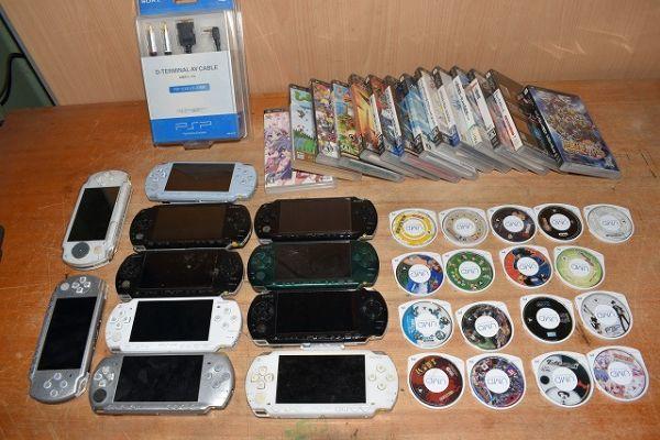 80/5C25★ジャンク PSP 本体 PSP-1000 2000 3000 ソフト まとめて大量セット