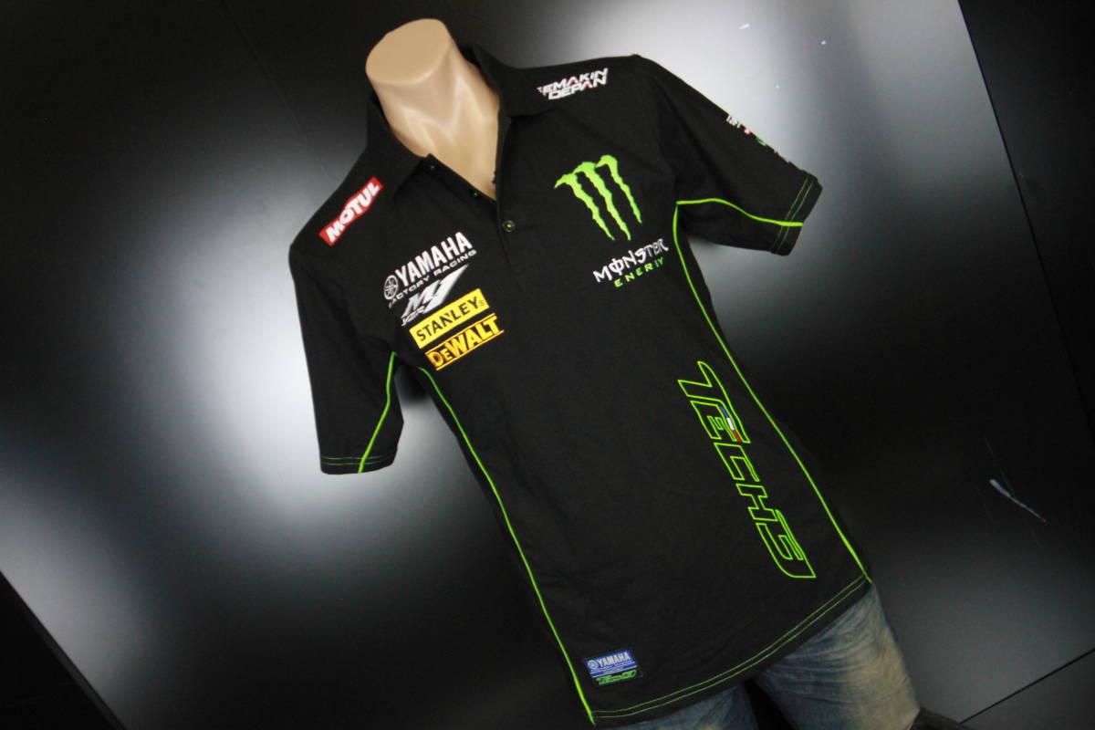 正規品★【Monster Tech3 YAMAHA】motoGP オフィシャル 公式モデル ポロシャツ 【L】本物(検 ZARCO 5 Super Bike 55 Yamaha Racing M1)_画像2