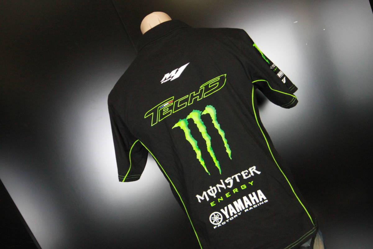 正規品★【Monster Tech3 YAMAHA】motoGP オフィシャル 公式モデル ポロシャツ 【L】本物(検 ZARCO 5 Super Bike 55 Yamaha Racing M1)_画像3