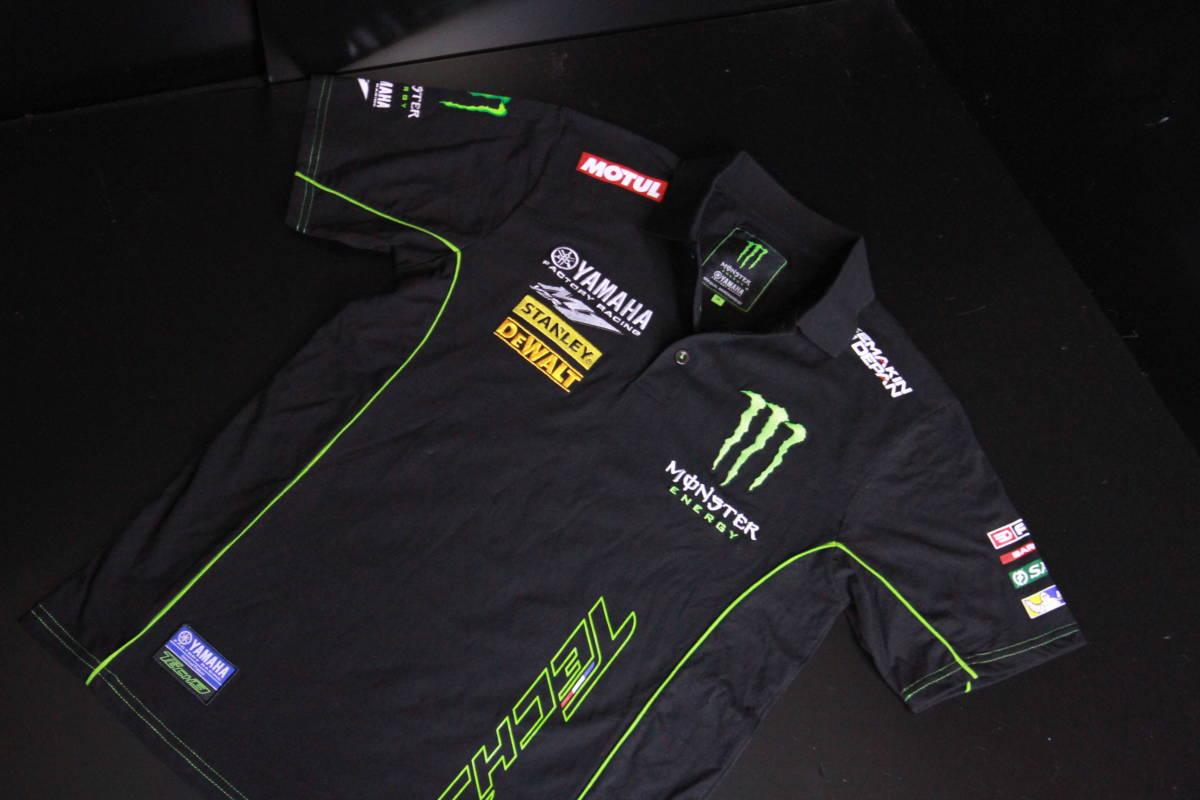 正規品★【Monster Tech3 YAMAHA】motoGP オフィシャル 公式モデル ポロシャツ 【L】本物(検 ZARCO 5 Super Bike 55 Yamaha Racing M1)_画像6