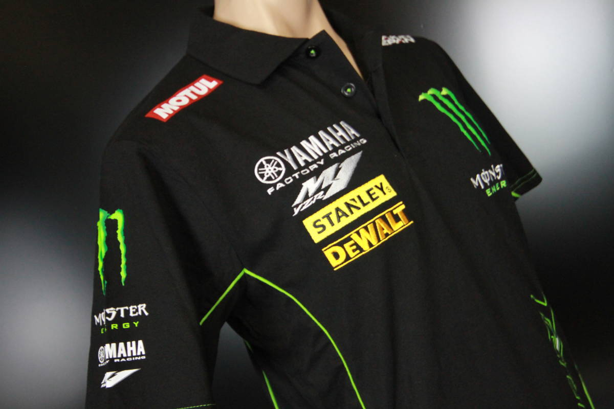 正規品★【Monster Tech3 YAMAHA】motoGP オフィシャル 公式モデル ポロシャツ 【L】本物(検 ZARCO 5 Super Bike 55 Yamaha Racing M1)_画像8