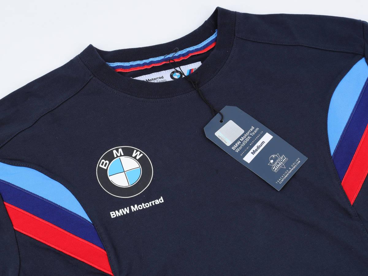 本物!・正規品【BMW motorrad】World Super Bike 2019 オフィシャル Tシャツ 紺 【M】(検:WSBK motoGP BMW S1000RR TOM SYKES )_画像3