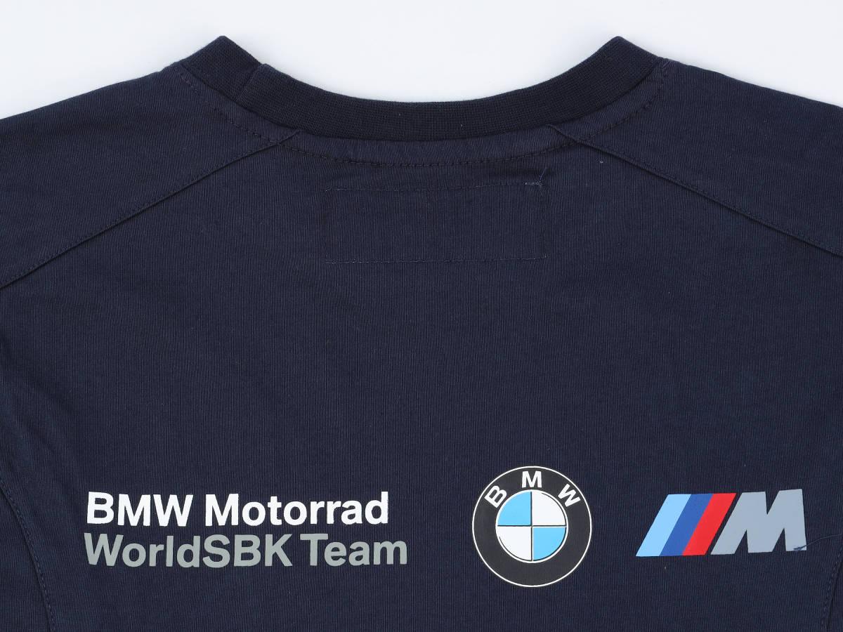 本物!・正規品【BMW motorrad】World Super Bike 2019 オフィシャル Tシャツ 紺 【M】(検:WSBK motoGP BMW S1000RR TOM SYKES )_画像5