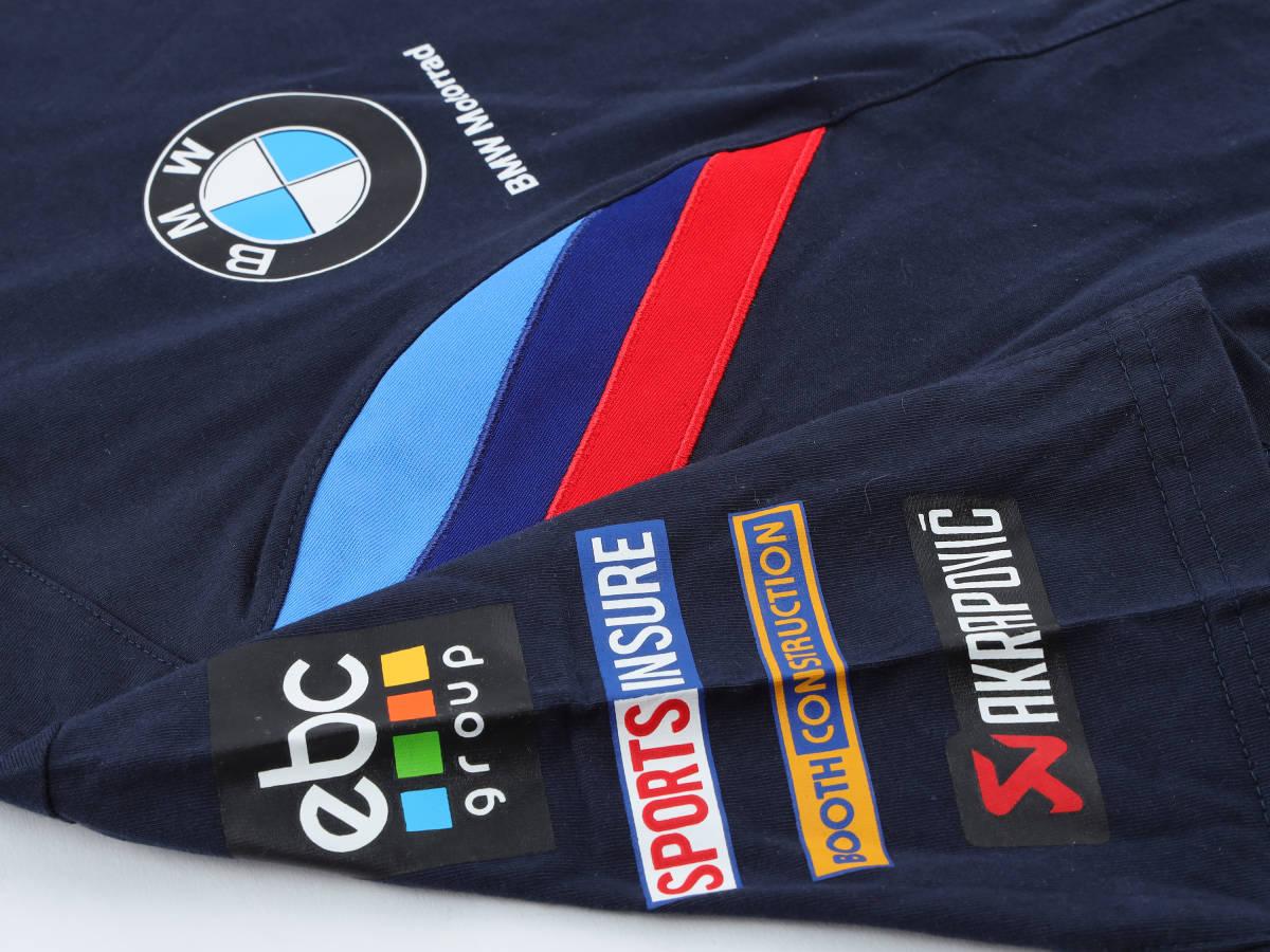 本物!・正規品【BMW motorrad】World Super Bike 2019 オフィシャル Tシャツ 紺 【M】(検:WSBK motoGP BMW S1000RR TOM SYKES )_画像6