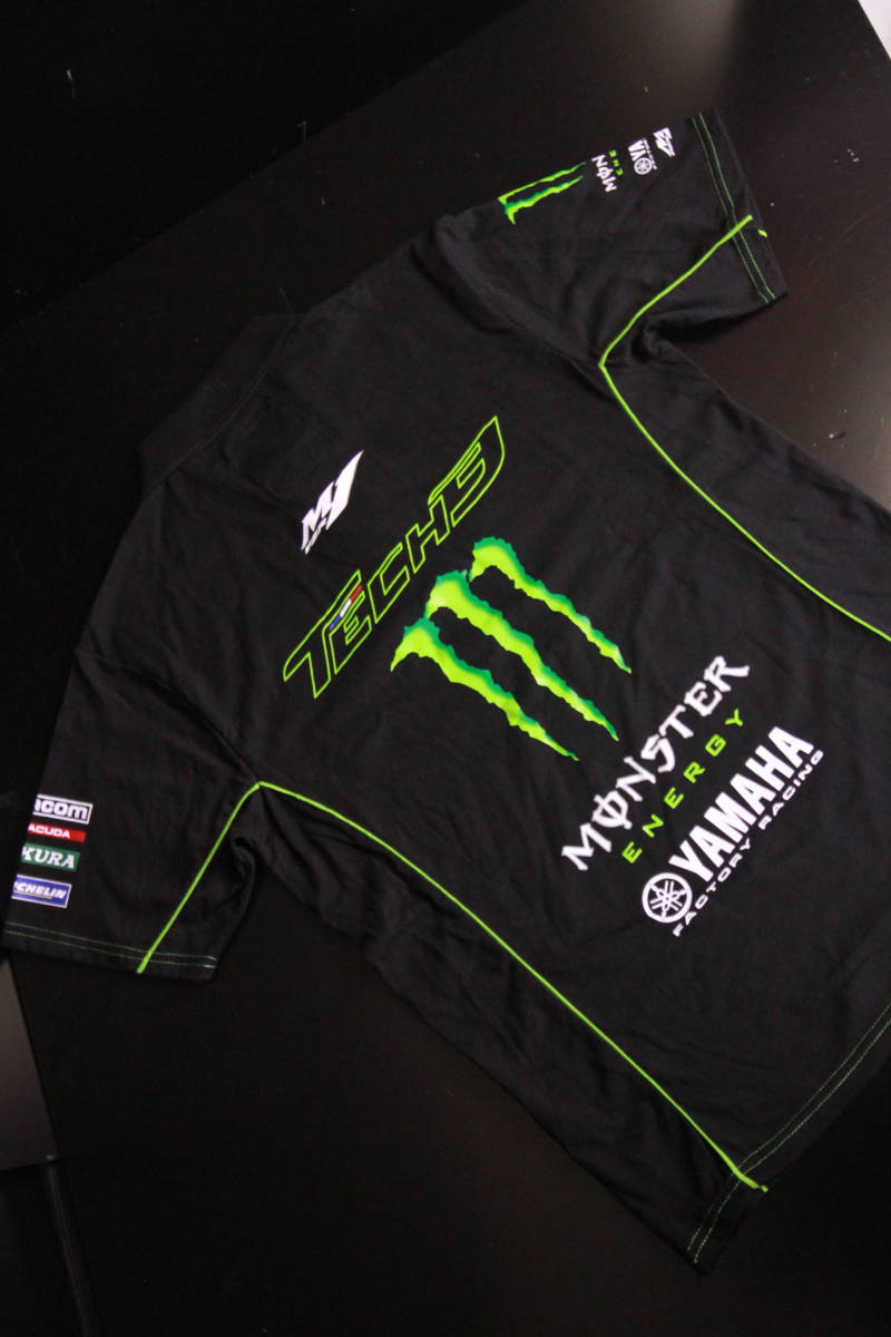 正規品★【Monster Tech3 YAMAHA】motoGP オフィシャル 公式モデル ポロシャツ 【L】本物(検 ZARCO 5 Super Bike 55 Yamaha Racing M1)_画像7