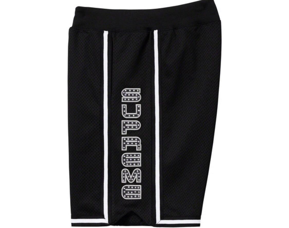 Sサイズ Rhinestone Basketball Short バスケットボール ショーツ SUPREME シュプリーム Black ブラック 黒 S logo box buju banton logo_画像2
