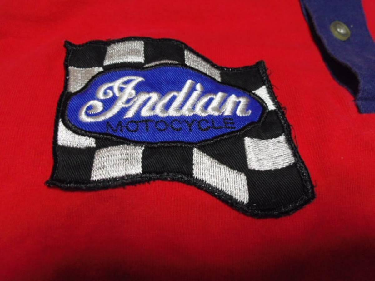 【INDIAN】 インディアンモーターサイクル 刺繍 ポロシャツ M_画像5