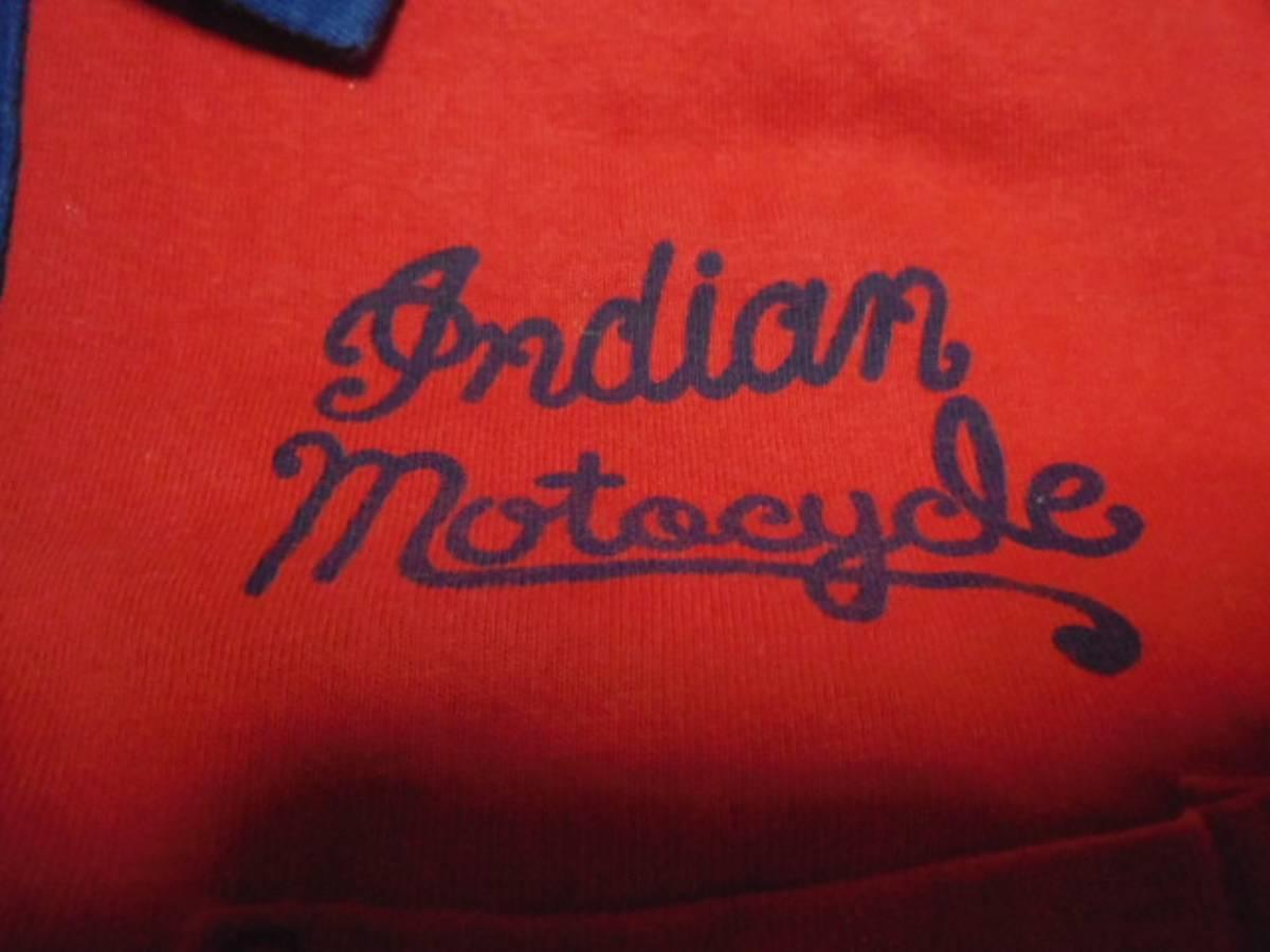 【INDIAN】 インディアンモーターサイクル 刺繍 ポロシャツ M_画像6