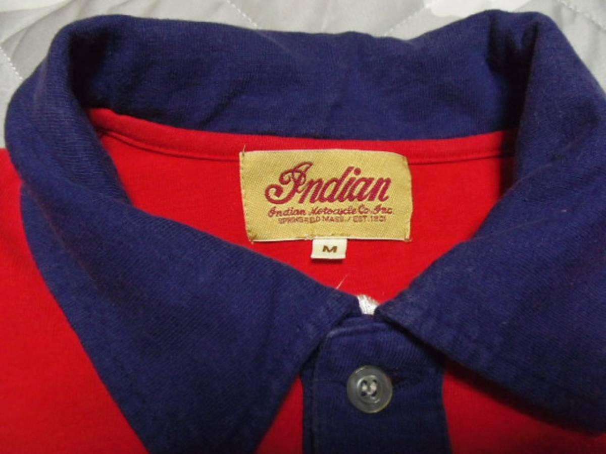 【INDIAN】 インディアンモーターサイクル 刺繍 ポロシャツ M_画像7