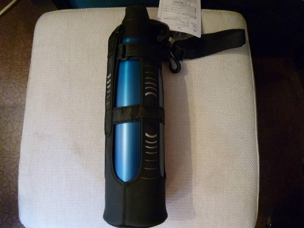 新品 サーモス 水筒 真空断熱スポーツボトル 0.8L ブルー ハンディポーチ 取扱説明書 付_画像2