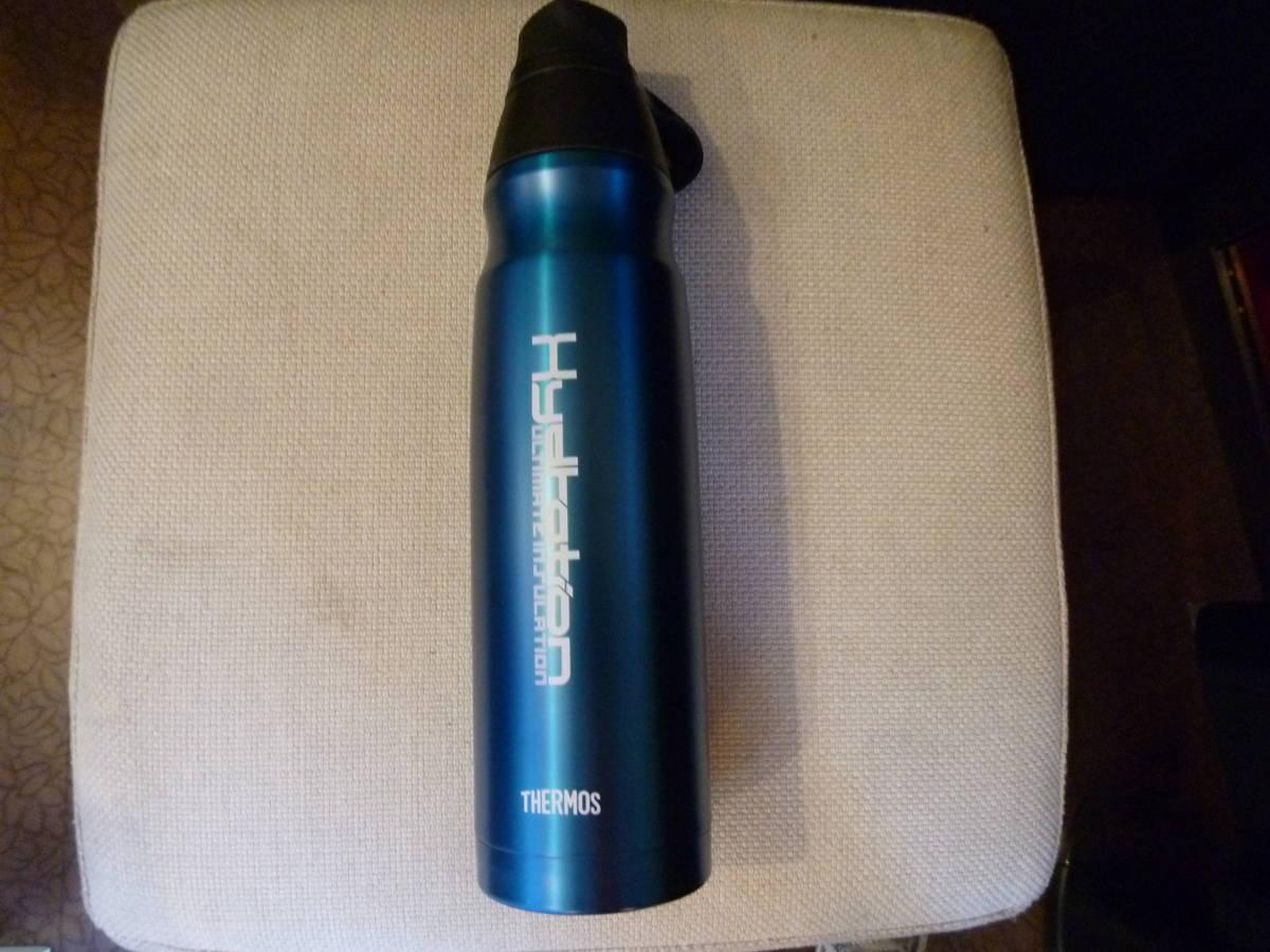 新品 サーモス 水筒 真空断熱スポーツボトル 0.8L ブルー ハンディポーチ 取扱説明書 付_画像3
