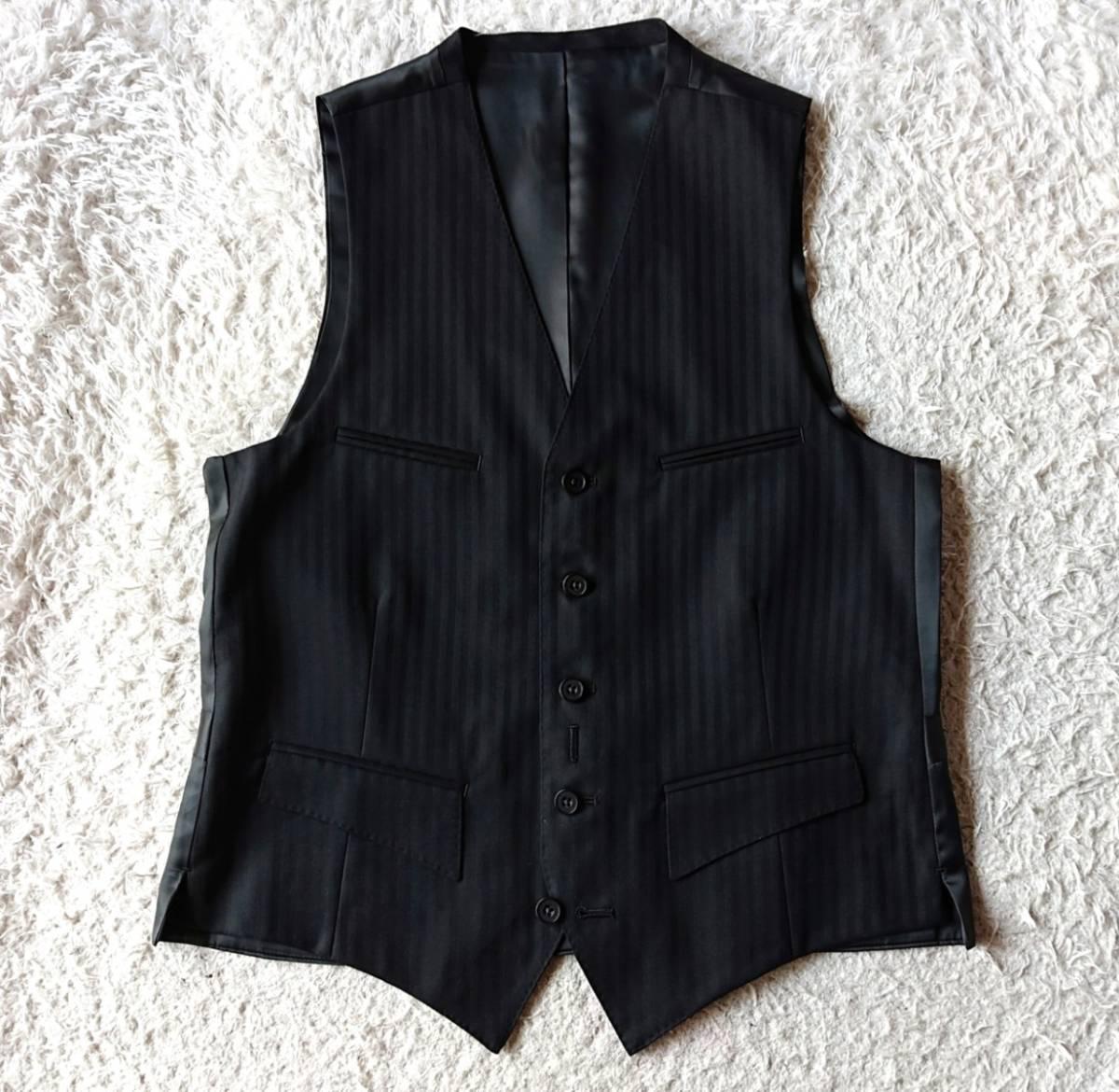 激レア希少 大人気赤 BURBERRY BLACK LABEL ★ シルク混 スリーピース バーバリー ブラック レーベル スーツ セットアップ メンズ ブラック_画像6