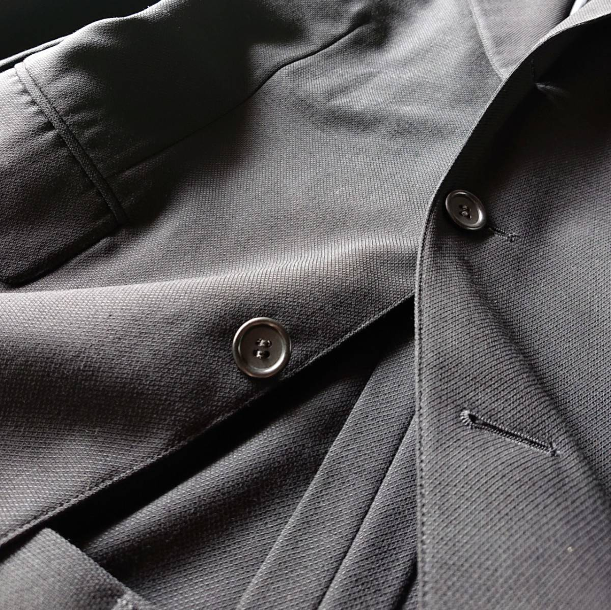 高級ピュアニューウール100% 日本製 予備パンツ付き★ ブルックス ブラザーズ スーツ セットアップ メンズ ブラック 黒 ビジネス 背抜き_画像4