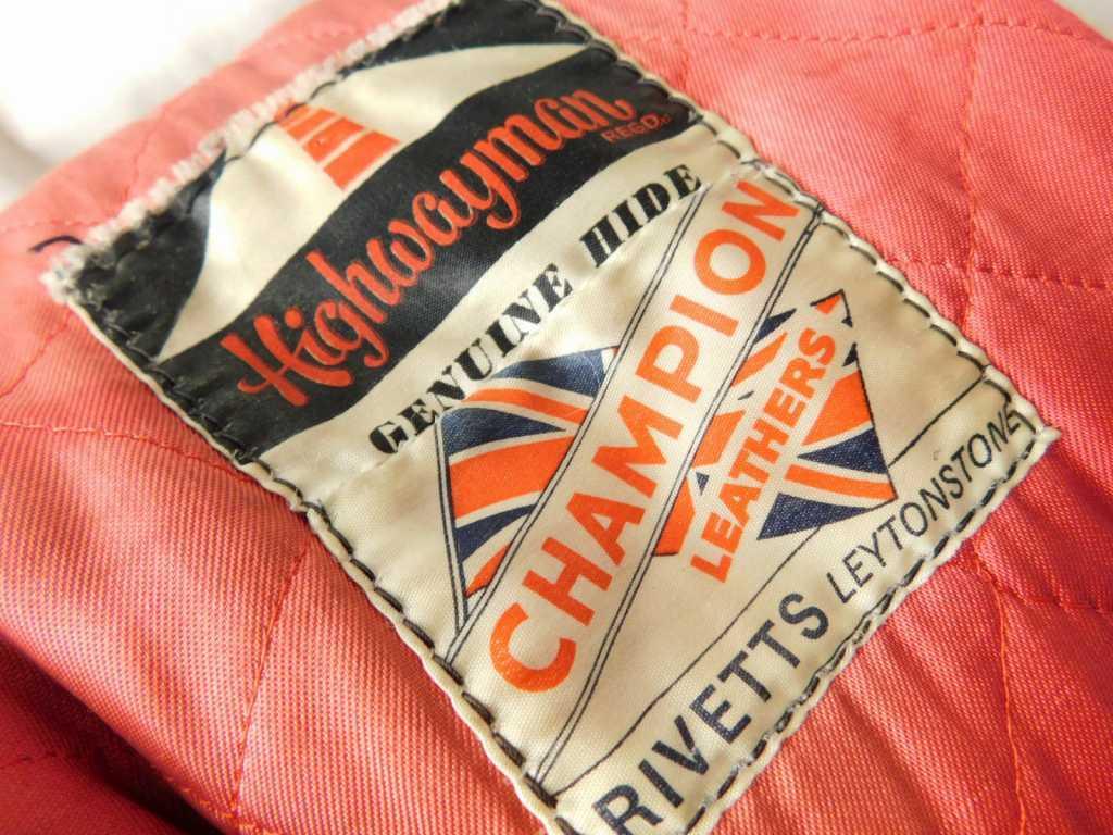 50s60s70s ビンテージ Highwayman ハイウェイマン CHAMPION RIVETTS ダブル ライダース レザー ジャケット 黒 UK イギリス製_画像8