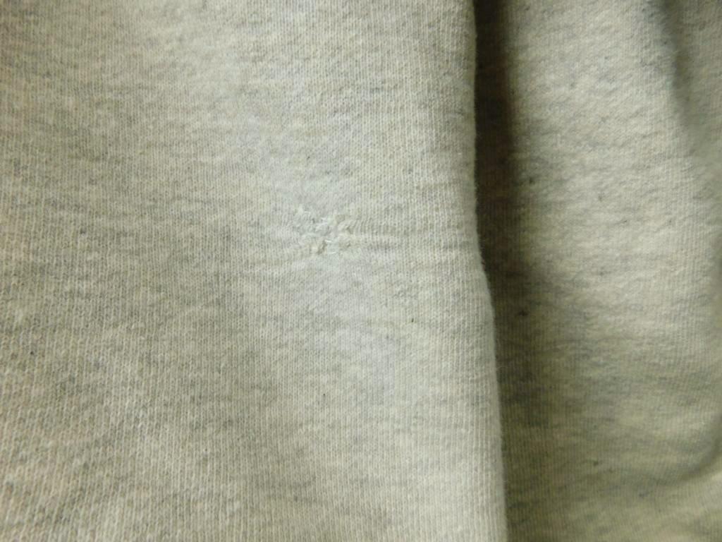 40s50s60s ビンテージ BIGサイズ ダブルフェイス スウェット パーカー 霜降り グレー コットン_画像4