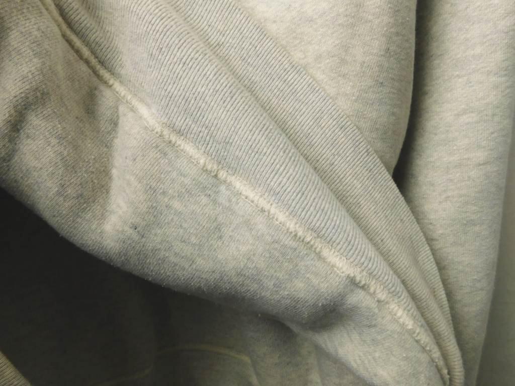 40s50s60s ビンテージ BIGサイズ ダブルフェイス スウェット パーカー 霜降り グレー コットン_画像9