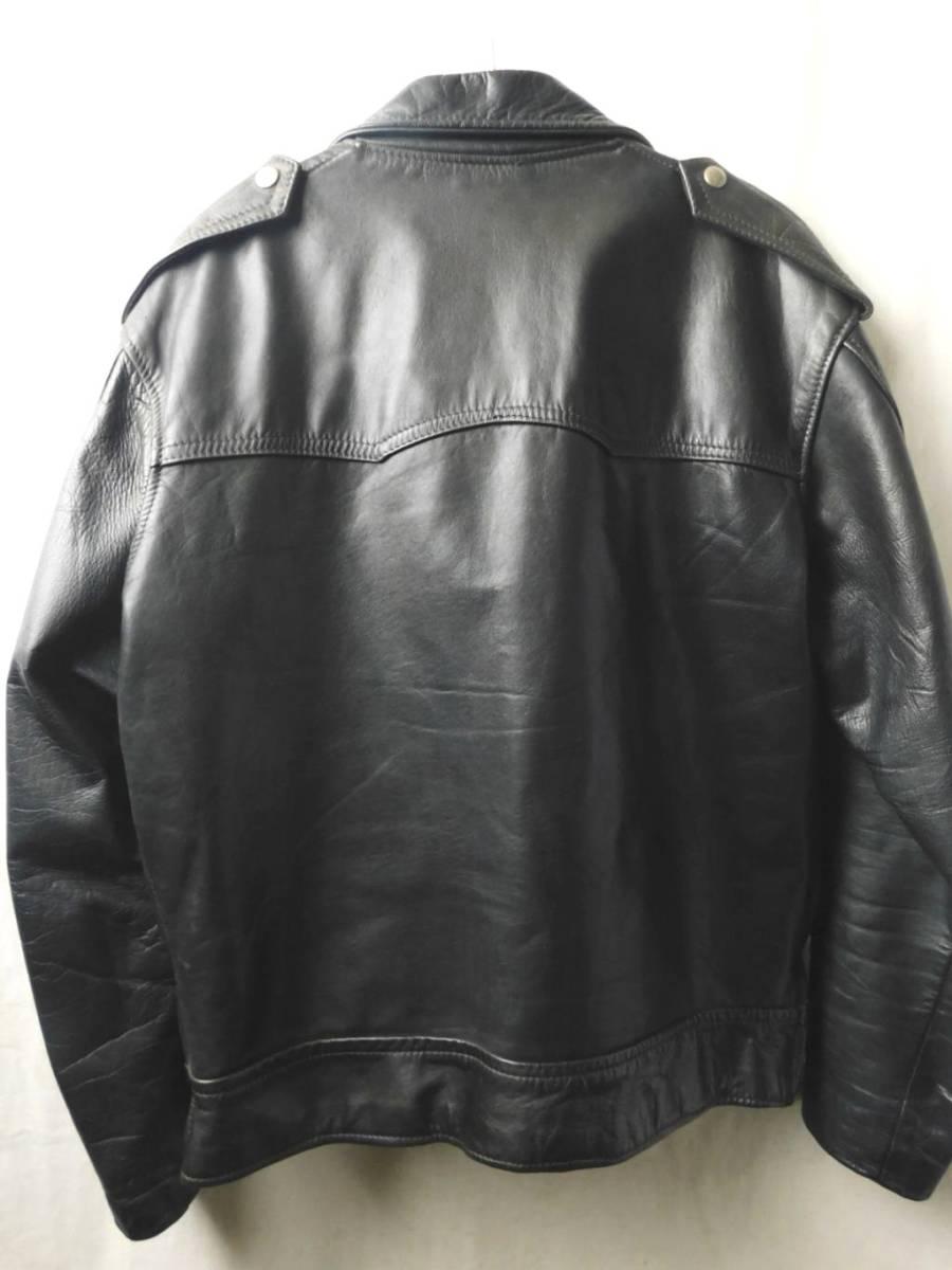 50s60s70s ビンテージ Highwayman ハイウェイマン CHAMPION RIVETTS ダブル ライダース レザー ジャケット 黒 UK イギリス製_画像3