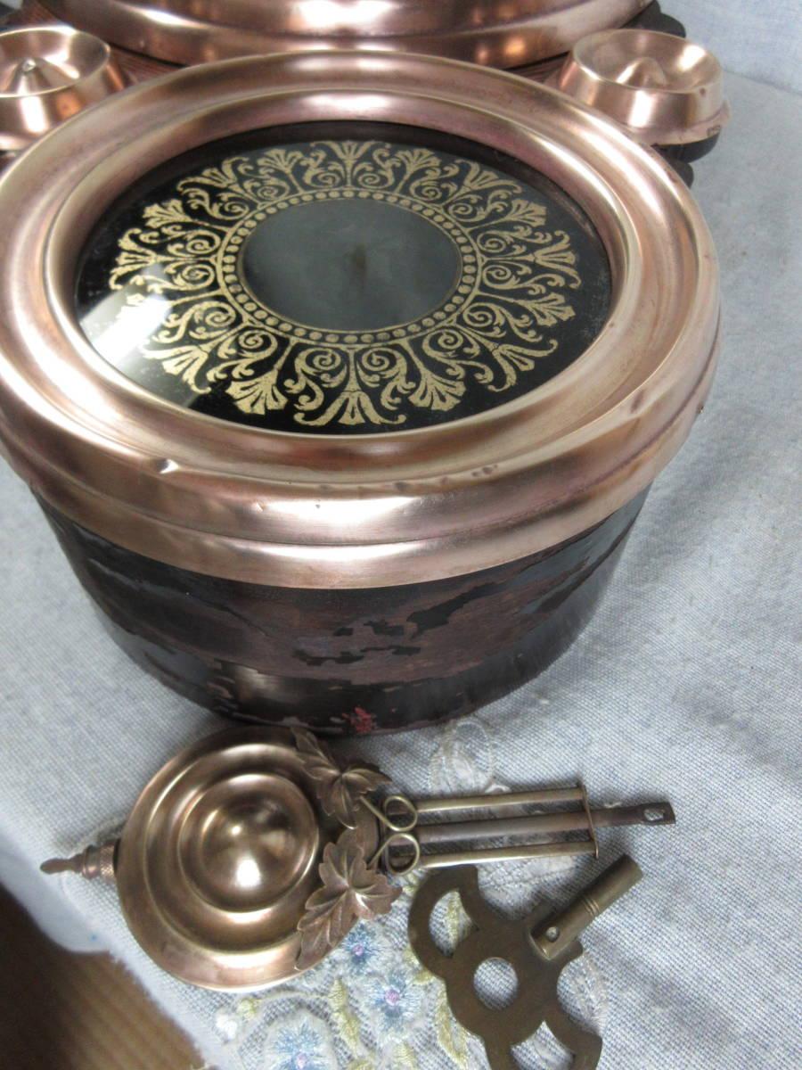 柱時計 8インチ紙文字盤真鍮被せ 四つ丸 精工舎製 古時計 完動品_画像10