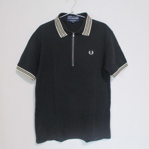 1000円から COMME des GARCONS SHIRT × FRED PERRY コラボZIPポロシャツ ブラックM コムデギャルソンシャツ ジュンヤ フレッドペリー