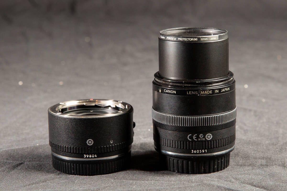 【美品】Canon EF50mm F2.5 コンパクトマクロ + ライフサイズコンバーター EF フィルター付 キヤノン COMPACT-MACRO_画像2