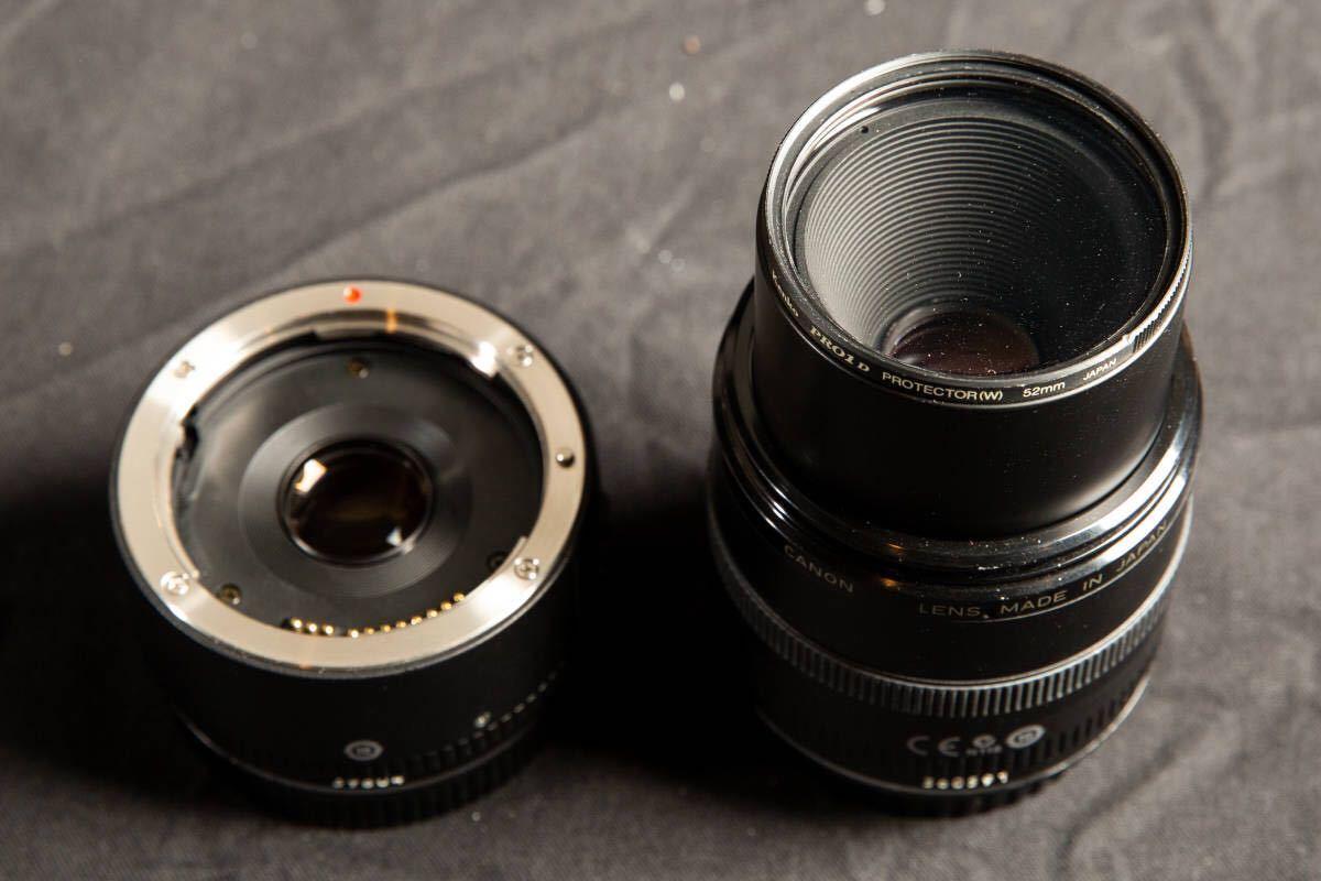 【美品】Canon EF50mm F2.5 コンパクトマクロ + ライフサイズコンバーター EF フィルター付 キヤノン COMPACT-MACRO_画像3
