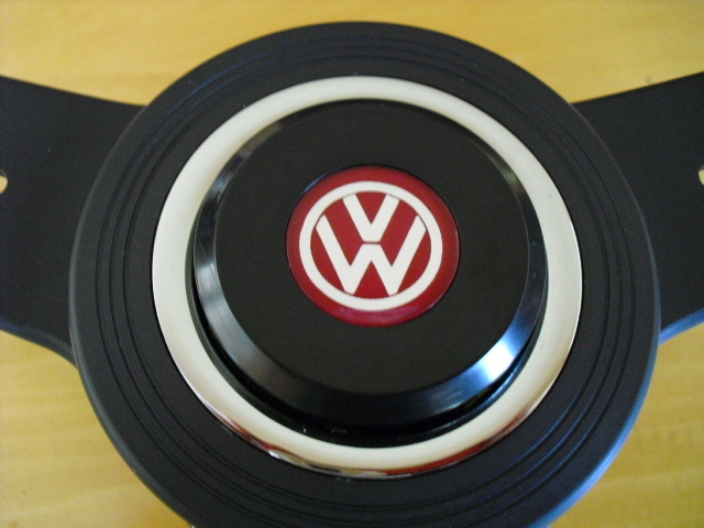 Nardi Classic wood black spoke VW horn button attaching Golf
