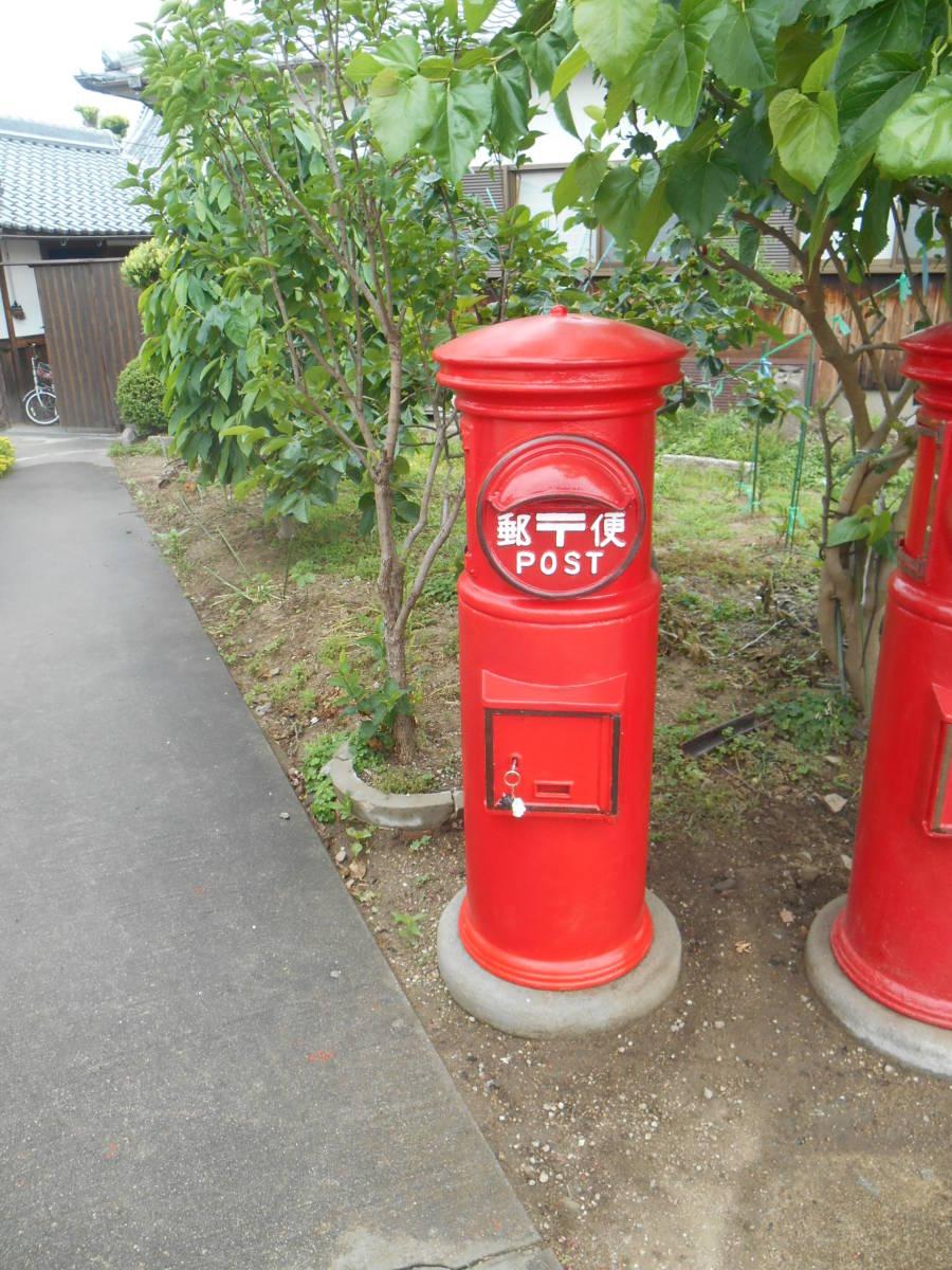 郵便ポスト 綺麗な郵便ポスト本物 鍵付き昭和レトロポスト ポスト  自宅までお運びいたします。_画像2