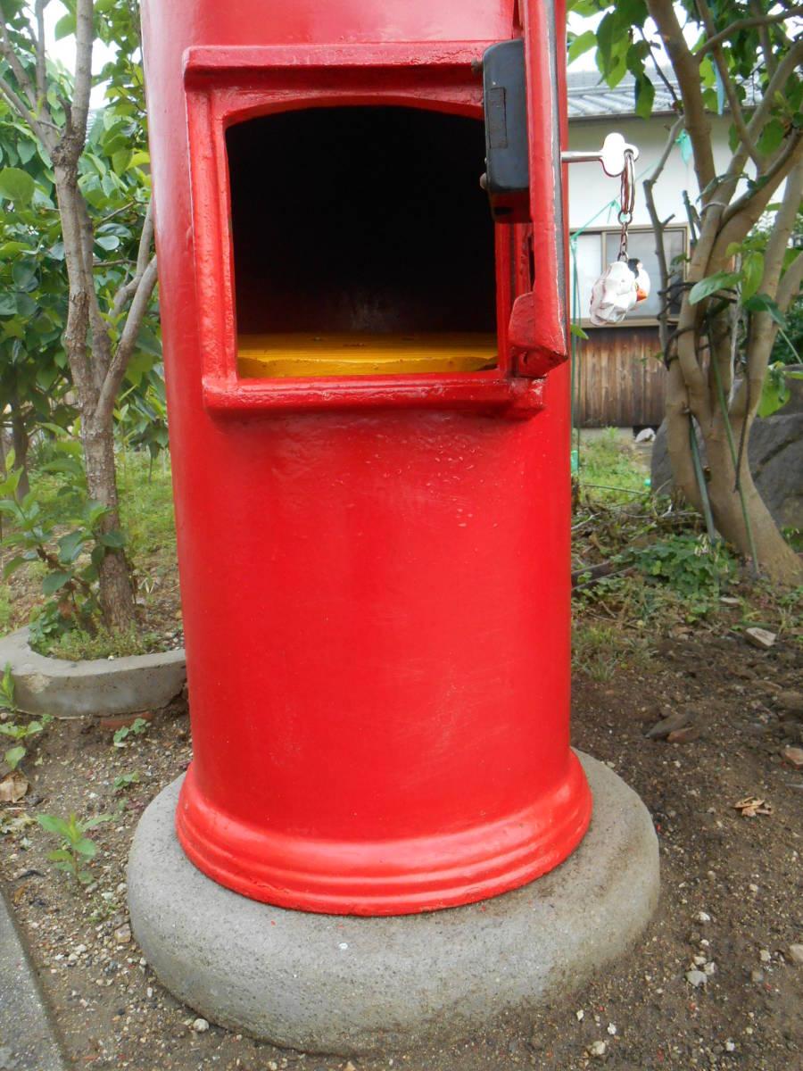 郵便ポスト 綺麗な郵便ポスト本物 鍵付き昭和レトロポスト ポスト  自宅までお運びいたします。_画像8